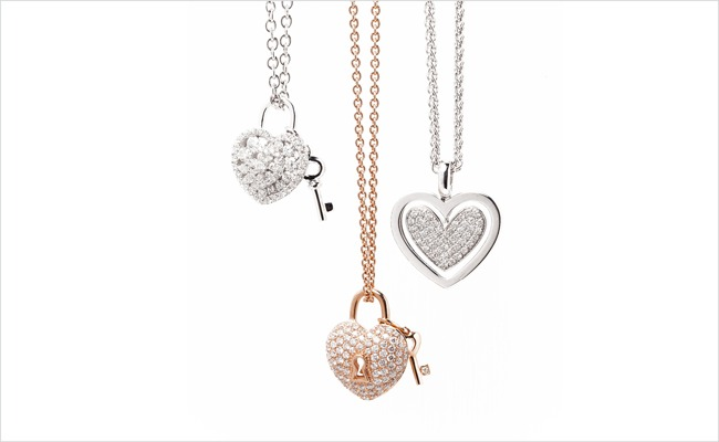 Stittgen fine jewelry featuring exceptional designs handcrafted lovers lock pendants and a diamond heart pendant mozeypictures Images
